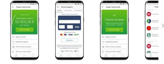 Мобильный интерфейс «Мой кредит»